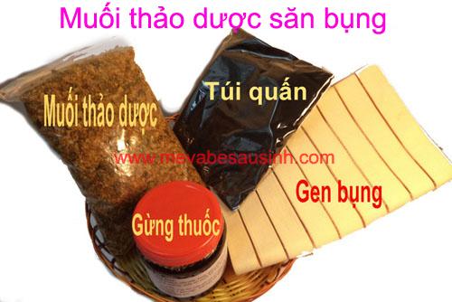 Bán muối thảo dược thuốc bắc săn bụng sau sinh tại Quận Gò Vấp